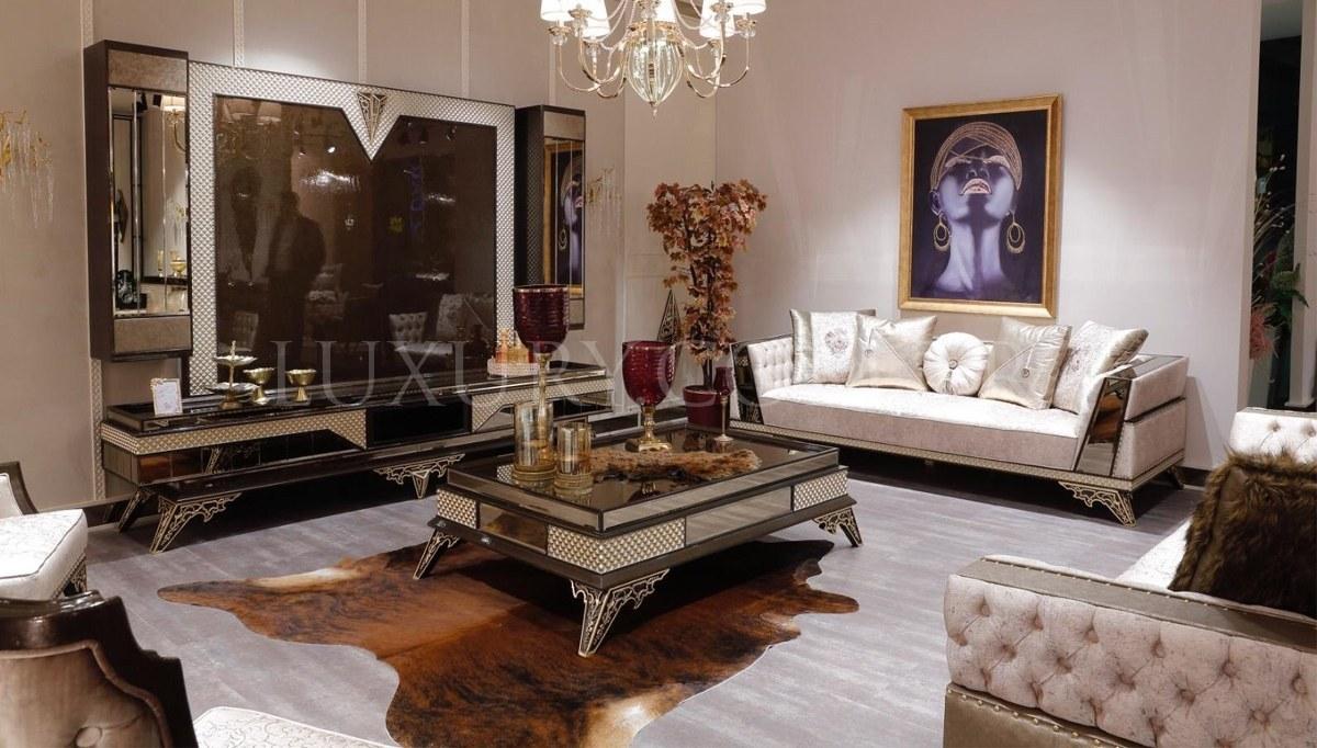 Lüks Romenas Art Deco TV Ünitesi