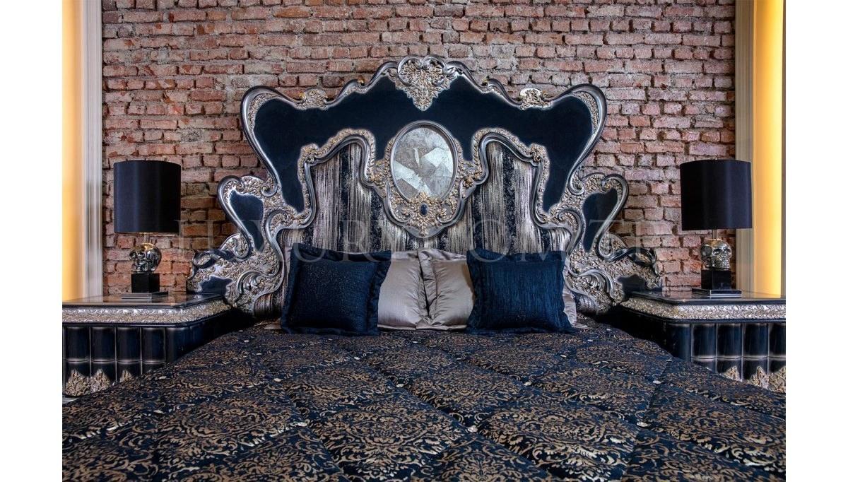 Lüks Rosali Klasik Yatak Odası