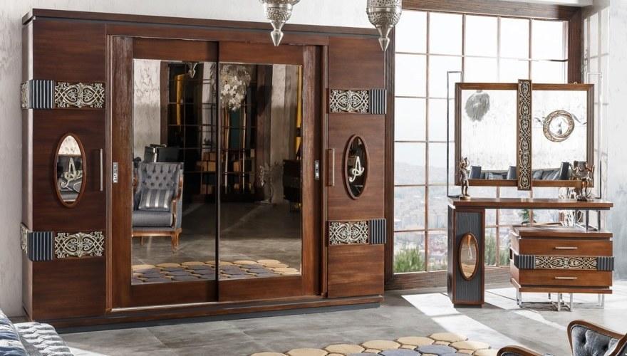 Rosignol Ceviz Klasik Yatak Odası - Thumbnail
