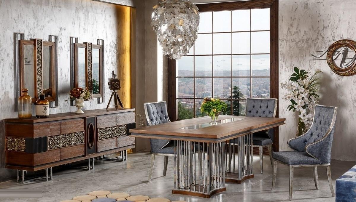 Lüks Rosignol Klasik Yemek Odası