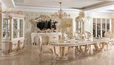 Lüks Royela Klasik Beyaz Yemek Odası - Thumbnail
