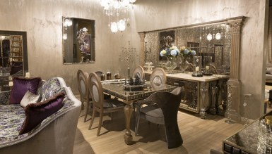 768 - Lüks Rumena Metal Yemek Odası
