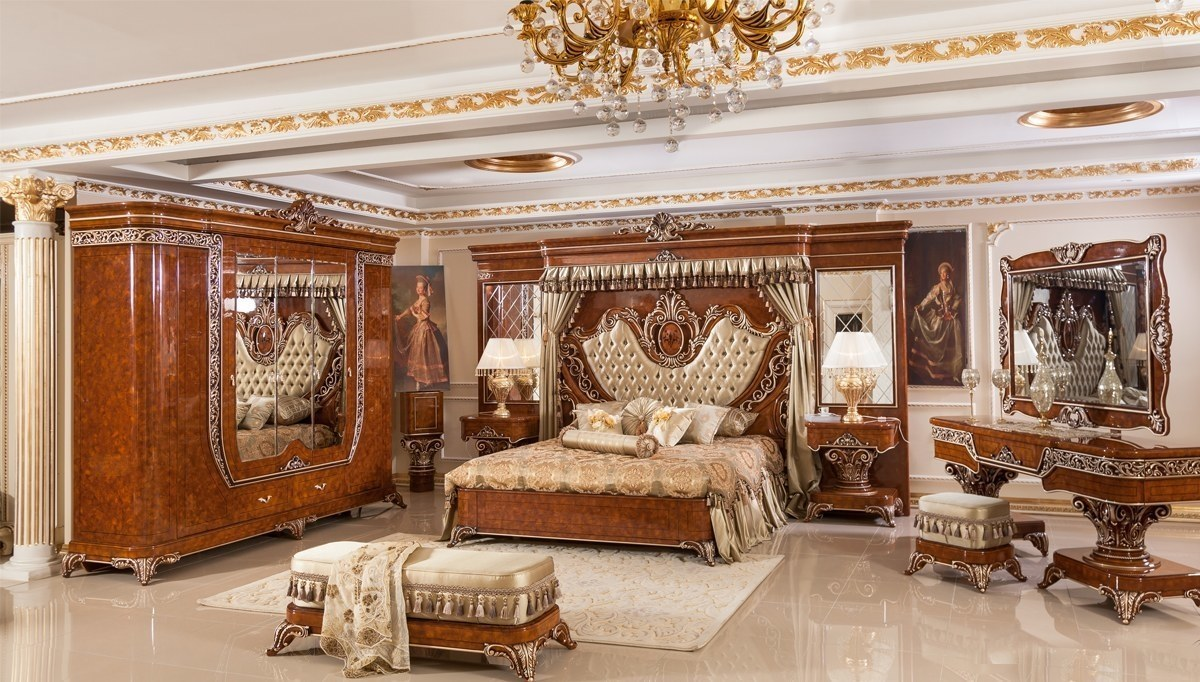 Lüks Safir Klasik Yatak Odası