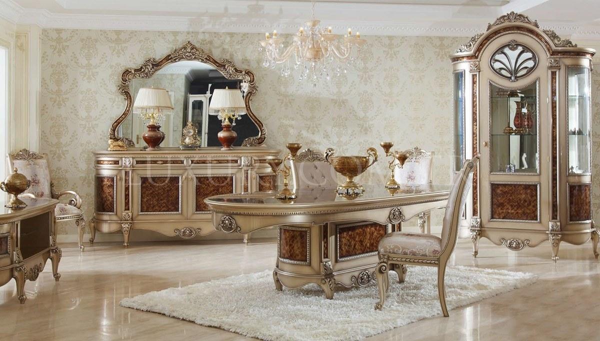 Lüks Safiros Klasik Yemek Odası