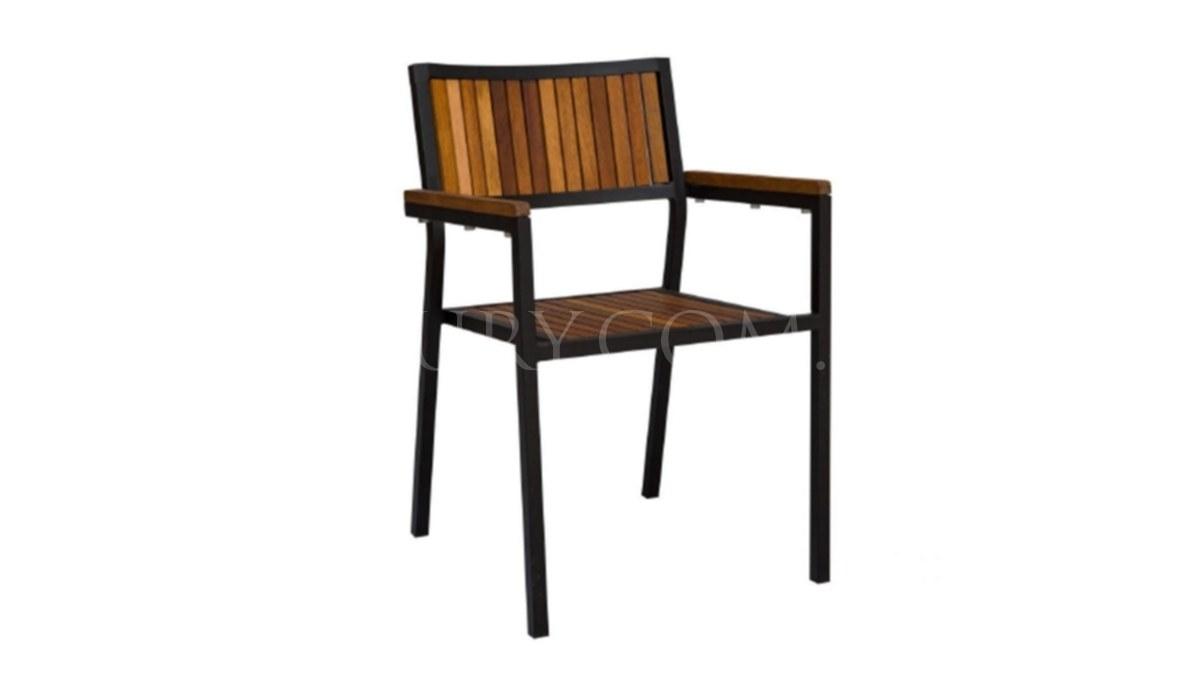 Lüks Salio Siyah Metal Ayaklı Sandalye