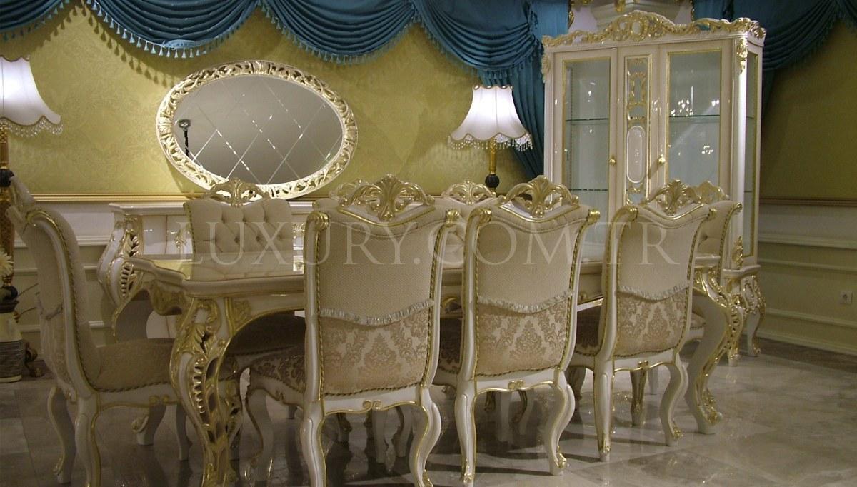Lüks Salkım Klasik Yemek Odası