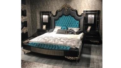 Lüks Saltane Siyah Yatak Odası - Thumbnail