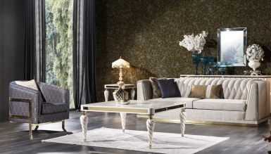 Lüks Şampelize Art Deco غرفة الجلوس