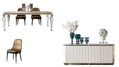 Lüks Şampelize Art Deco Yemek Odası - Thumbnail