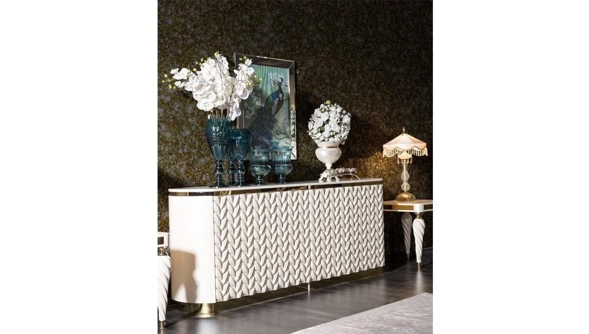 Lüks Şampelize Art Deco Yemek Odası