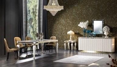 Lüks Şampelize Art Deco غرفة الطعام