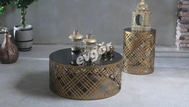 948 - Lüks Samur Metal Orta Sehpa