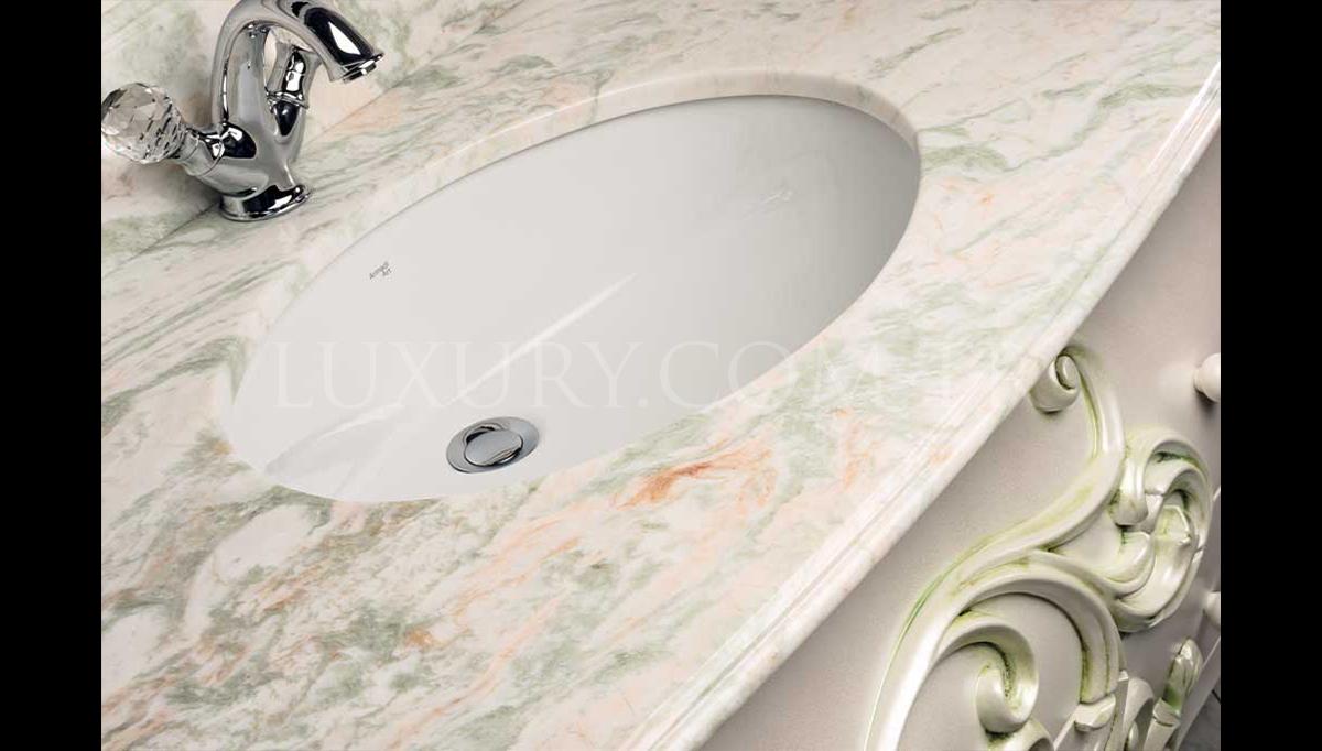 Lüks Sangus Beyaz Klasik Banyo Takımı