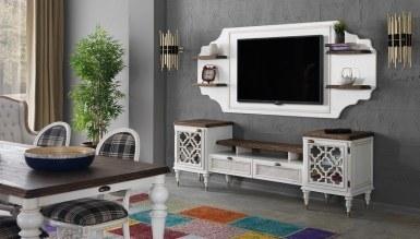 939 - Lüks Sardes Beyaz TV Ünitesi