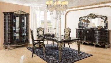 864 - Lüks Sayanora Siyah Klasik Yemek Odası