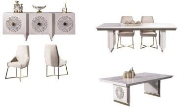 Lüks Sayedar Art Deco Yemek Odası - Thumbnail