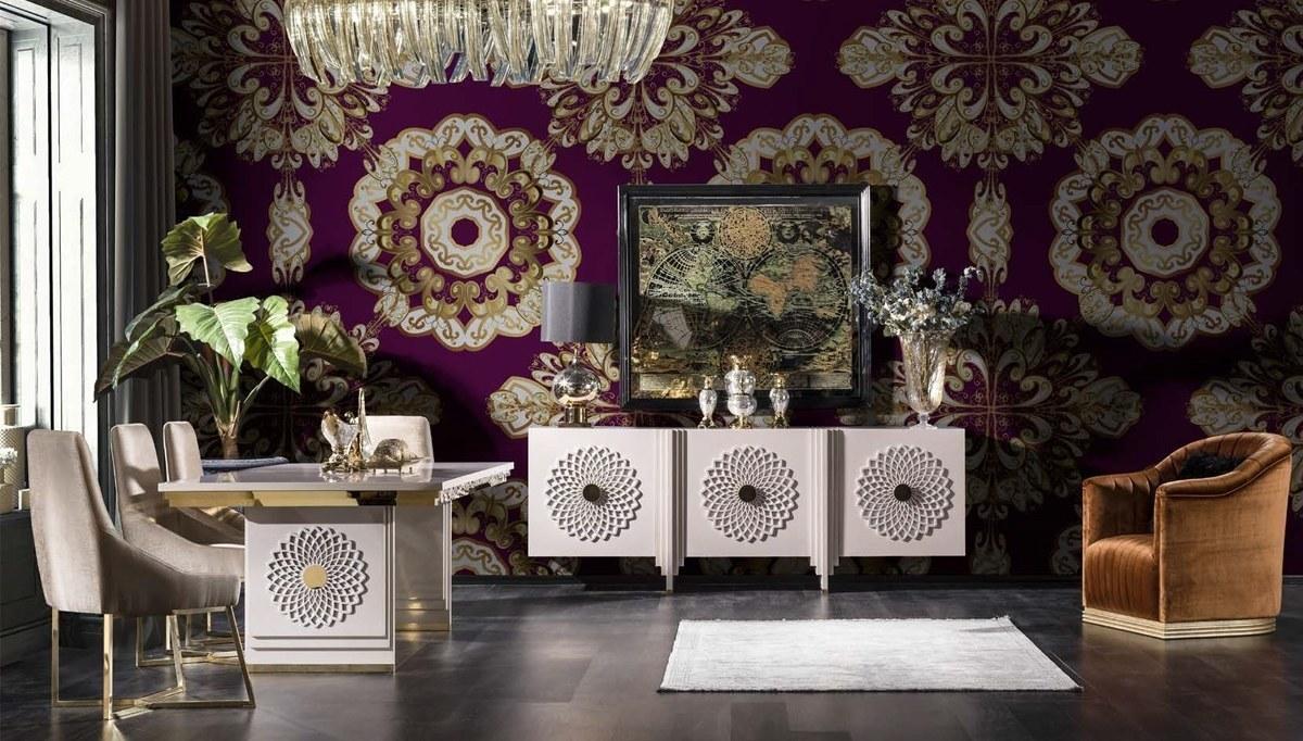 Lüks Sayedar Art Deco Yemek Odası