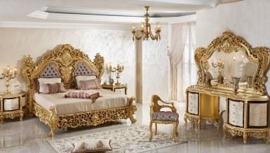 Lüks Şehrazat Lake Oymalı Klasik Yatak Odası