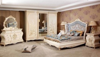 Lüks Şehzade Klasik Yatak Odası
