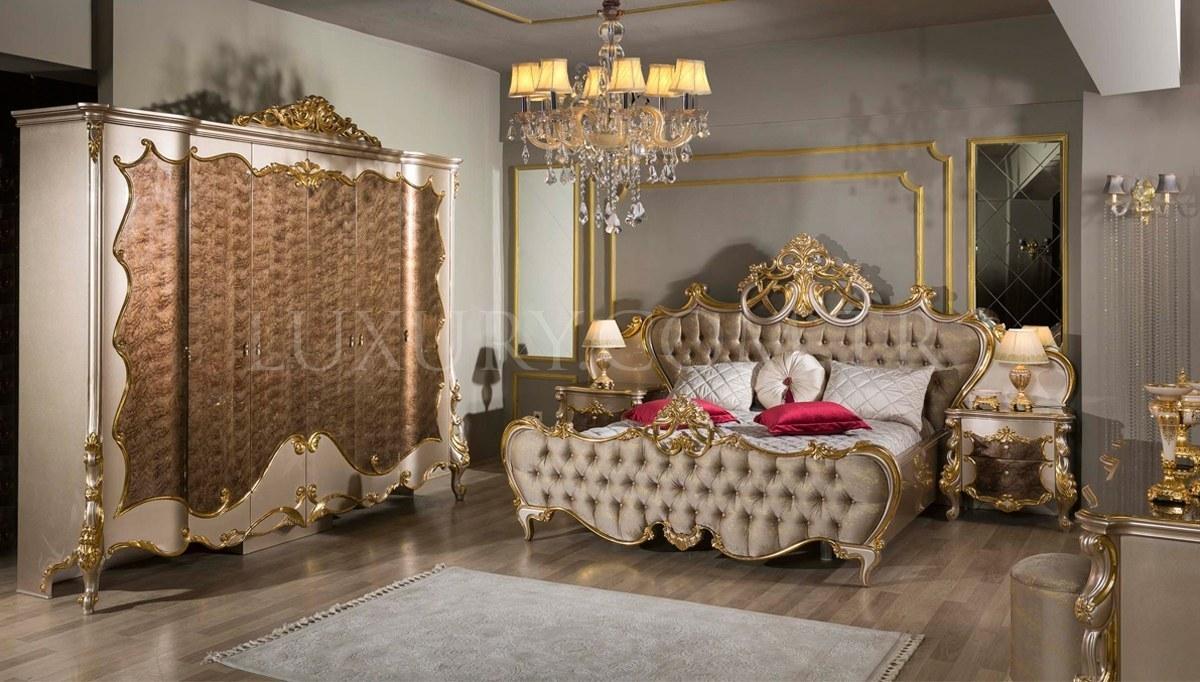 Lüks Selçuklu Klasik Yatak Odası