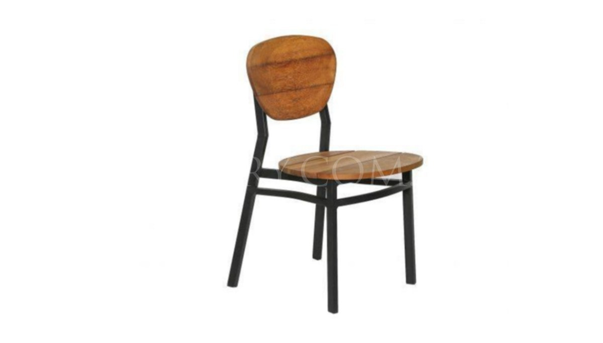 Lüks Sensur Metal Ayaklı Sandalye