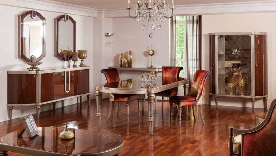 Lüks Simone Klasik Yemek Odası - Thumbnail