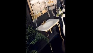 Lüks Sineres Altın Banyo Takımı - Thumbnail