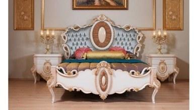 Lüks Sırma Klasik Yatak Odası - Thumbnail