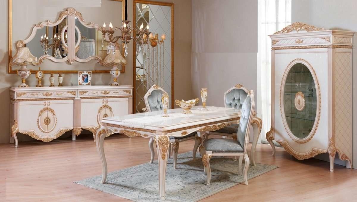 Lüks Sırma Klasik Yemek Odası