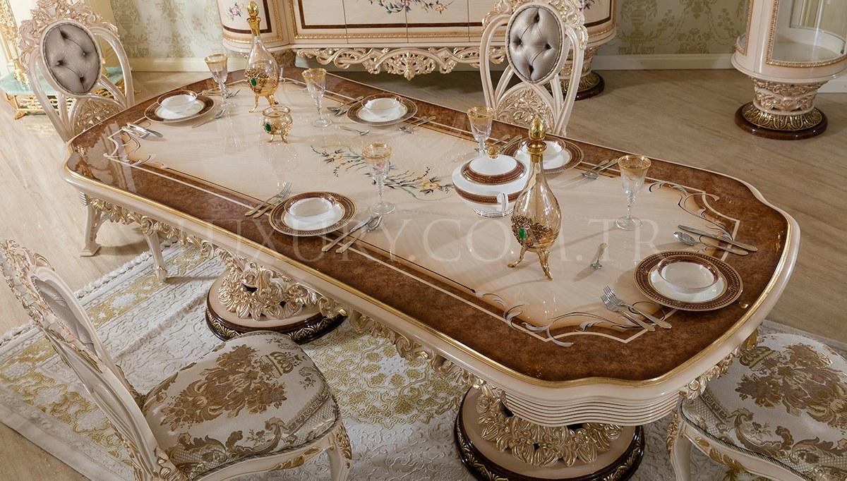 Lüks Sofena Klasik Yemek Odası