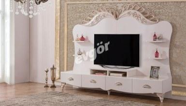 535 - Lüks Softale Beyaz TV Ünitesi