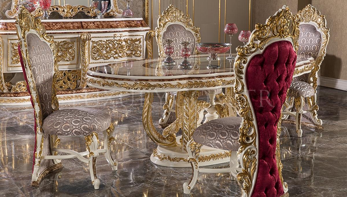 Lüks Tacmahal Klasik Yemek Odası