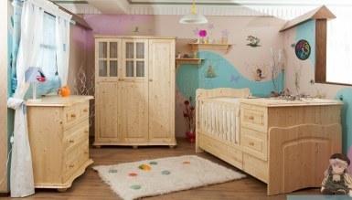 Lüks Terlis Ahşap Bebek Odası