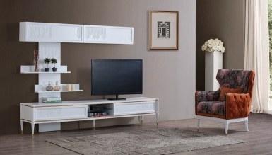 535 - Lüks Terona Beyaz TV Ünitesi