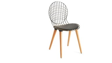 920 - Lüks Tolunay Ahşap Ayaklı Sandalye