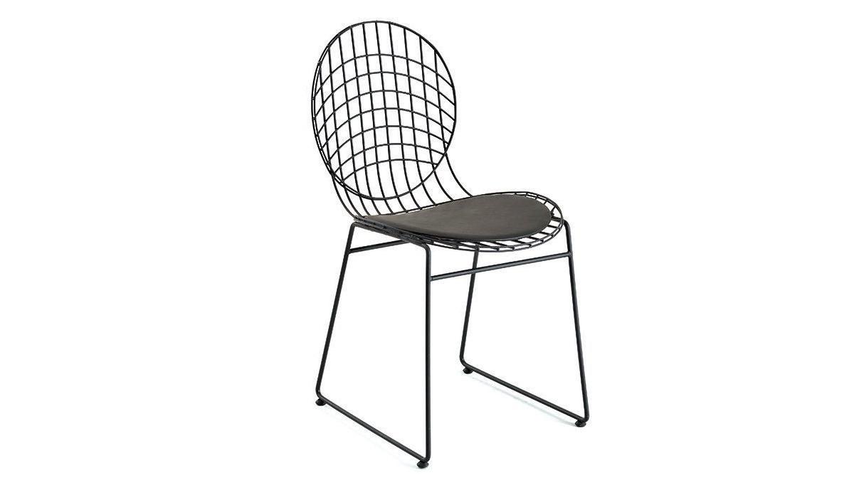 Lüks Tolunay Metal Ayaklı Sandalye