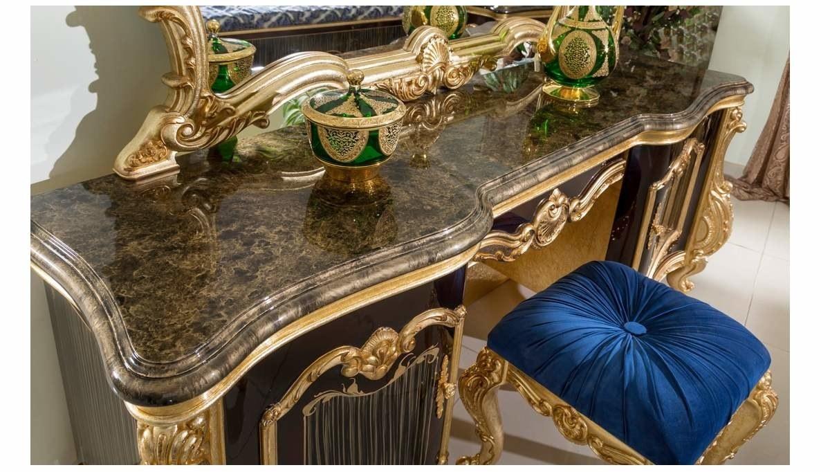Lüks Tuğrahan Ceviz Klasik Yatak Odası