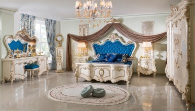 Lüks Tuğrahan Klasik غرفة النوم