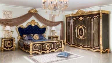 Lüks Tuğrahan Siyah Yatak Odası - Thumbnail