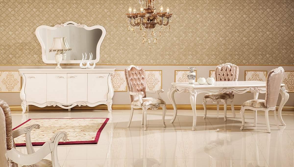 Lüks Tunder Klasik Yemek Odası