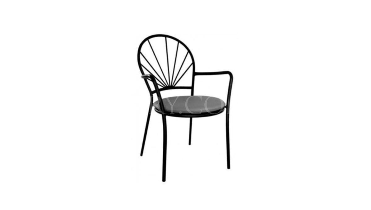 Lüks Upel Metal Ayaklı Sandalye