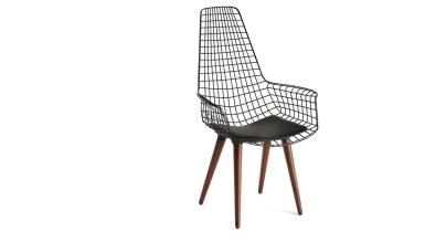 920 - Lüks Uzun Zara Ahşap Ayaklı Sandalye