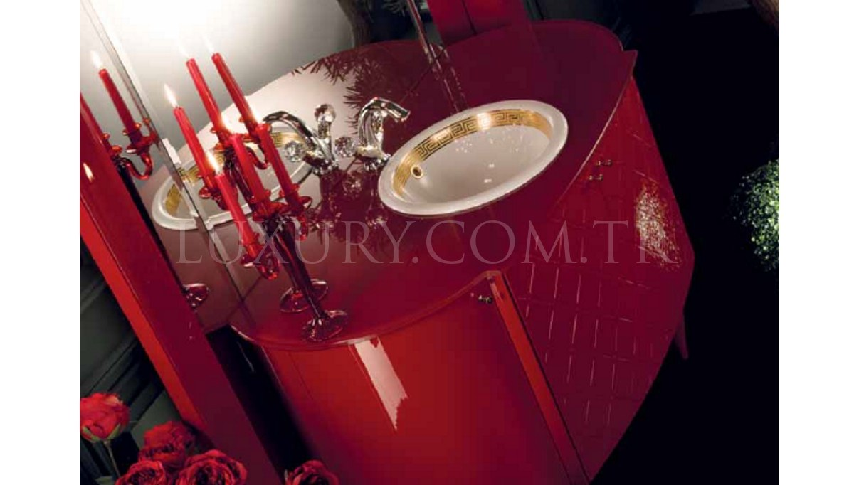 Lüks Valinto Kırmızı Banyo Takımı