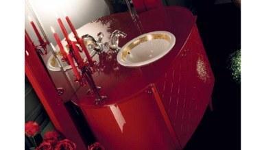 Lüks Valinto Kırmızı Banyo Takımı - Thumbnail