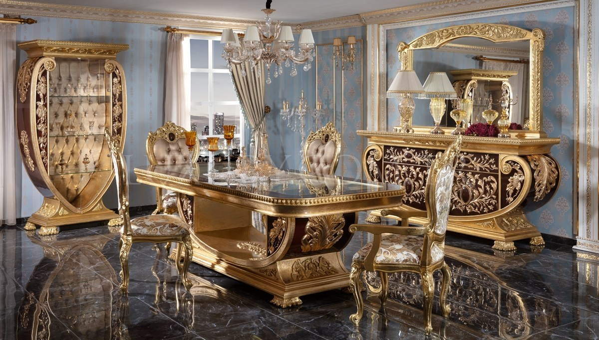 Lüks Vanera Klasik Yemek Odası