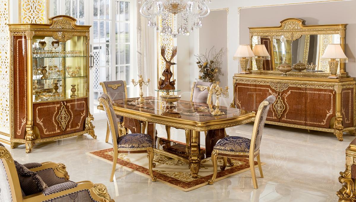 Lüks Vanseras Klasik Yemek Odası
