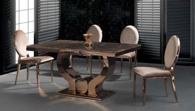 985 - Lüks Varne Metal Yemek Masası
