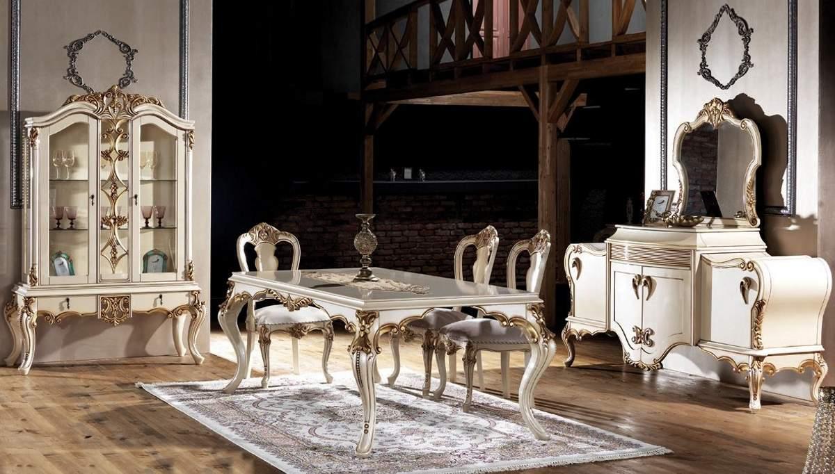 Lüks Vasilisa Klasik Yemek Odası Takımı