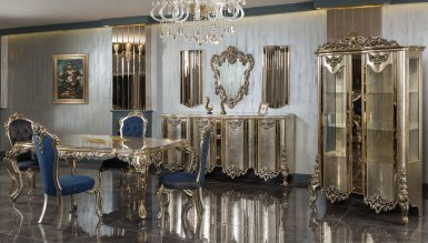 Lüks Vektora Klasik Yemek Odası