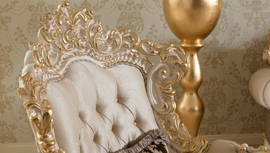 Lüks Venora Klasik Beyaz Koltuk Takımı - Thumbnail